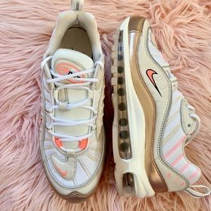 New Women's Nike Air Max 98 Rose Gold Sneakers